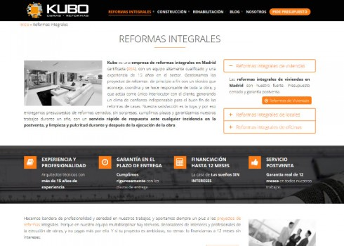 Página web Kubo familia