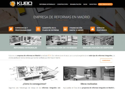 Página web Kubo inicio