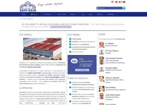 Página web Safe-Rain confianza