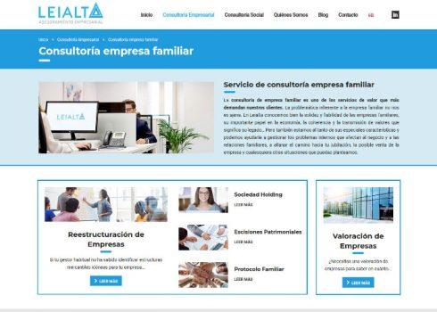 Página web Leialta familia
