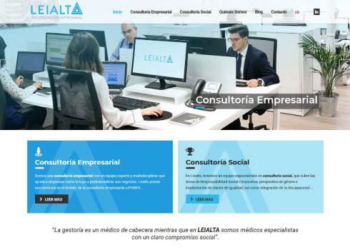 Página web Leialta inicio